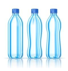 Water bottles on white vector image
