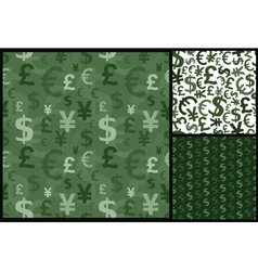 currency business pattern vector image