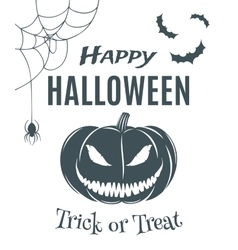 Happy Halloween poster template vector image