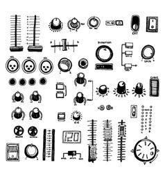 mixer buttons vector image vector image