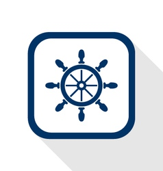 rudder flat icon vector image vector image