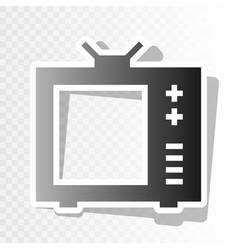tv sign new year blackish vector image