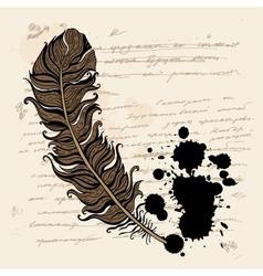 Vintage background ink text vector image