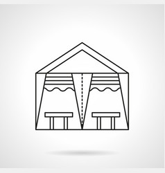 Banquet tent flat line icon vector