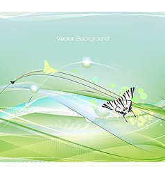 butterfly flying vector image