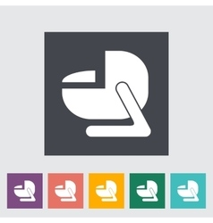 Child car seat flat icon vector image