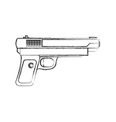 gun weapon army protection object vector image