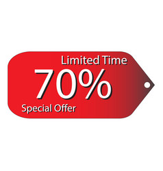 special price tag discount price vector image