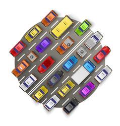 traffic jam art banner vector image