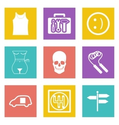 Color icons for Web Design set 28 vector image