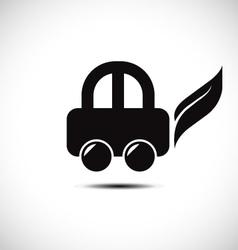 Eco friendly car icon vector image vector image