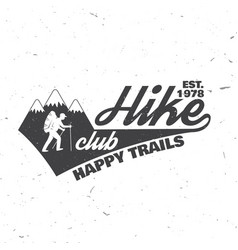 hike club happy trails vector image