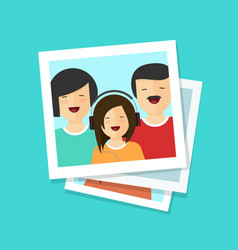 photo cards or happy family vector image