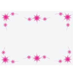 Simple pink floral frame vector image
