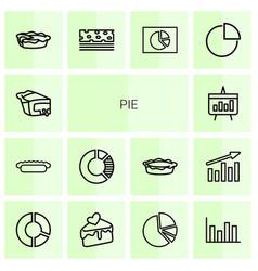 14 pie icons vector