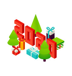 2020 seasonal holiday concept vector image