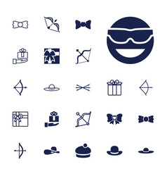 22 bow icons vector