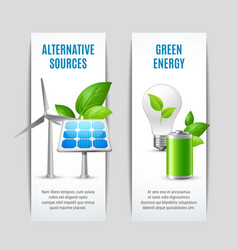 Alternative sources and green energy banners vector