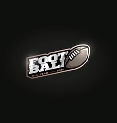 american football mascot modern professional vector image