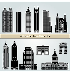 Atlanta landmarks and monuments vector
