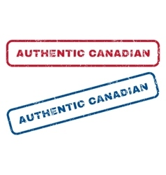 Authentic Canadian Rubber Stamps vector image