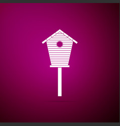 bird house icon isolated on purple background vector image