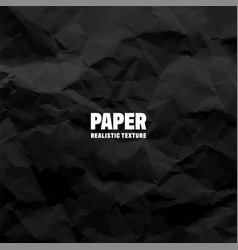Black crumpled paper texture pattern rough grunge vector
