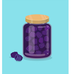 Blackberry jam vector