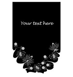 Bottom frame made of white flowers vector