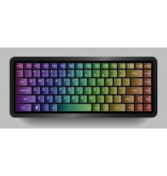 Bright compact keyboard Colorful design vector