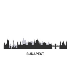 budapest skyline silhouette vector image