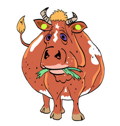 cartoon image of cow vector image