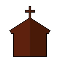 church silhouette isolated icon vector image