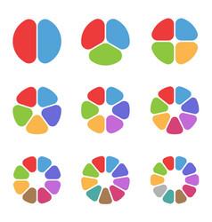 Circle segment set vector