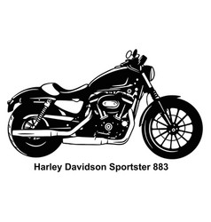 Classic motorcycle - stencil silhouette vector