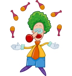 Clown juggler cartoon vector