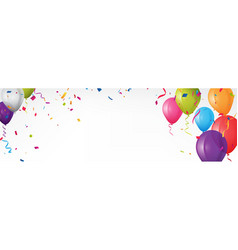 colorful birthday banner with bunting flags vector image