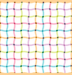 colorful seamless grid pattern - cloth design vector image