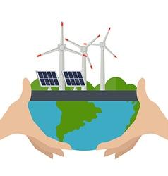Concept of alternative energy sources vector