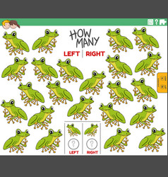 Counting left and right pictures cartoon tree vector