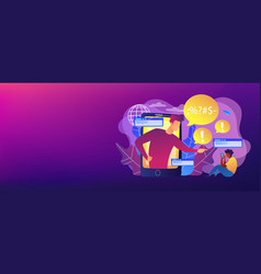 cyberbullying concept banner header vector image