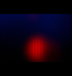 Deep blue and red abstract with light lines vector