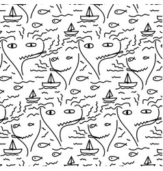 doodle abstract pattern with line hand drawn vector image