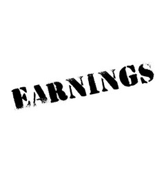 earnings rubber stamp vector image