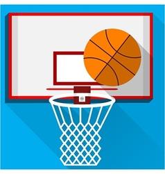 Flat of play basketball vector