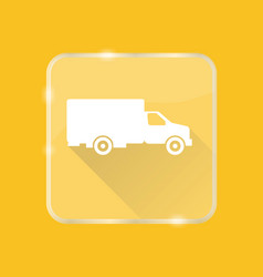 flat style truck silhouette icon vector image