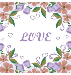 Floral card acceptance with love vector