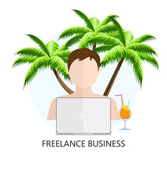 Freelance Business Icon vector