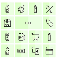 full icons vector image