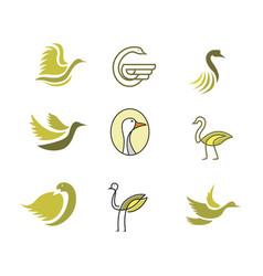 goose bird logo vector image